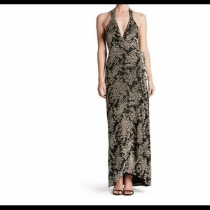 Dress the Population Erica Floral wrap dress. M.
